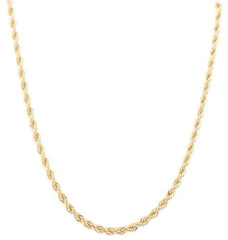 2 Pieces Of Goldtone 5mm 20 Inch Rope Chain Necklace