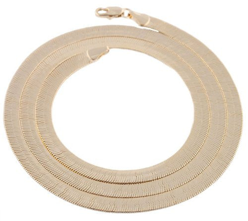 2 Pieces Of Goldtone 5mm 24 Inch Herringbone Chain Necklace
