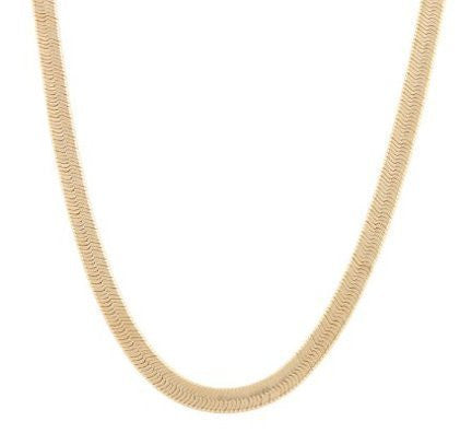 2 Pieces Of Goldtone 5mm 30 Inch Herringbone Chain Necklace