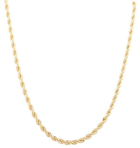 2 Pieces Of Goldtone 5mm 36 Inch Rope Chain Necklace