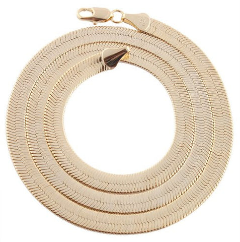 2 Pieces Of Goldtone 6mm 20 Inch Herringbone Chain Necklace