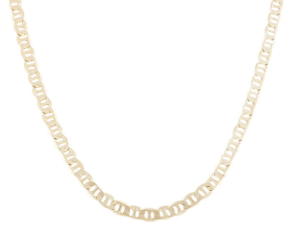 2 Pieces Of Goldtone 6mm 24 Inch Flat Mariner Chain Necklace