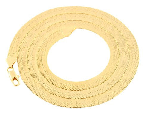 2 Pieces Of Goldtone 6mm 24 Inch Herringbone Chain Necklace