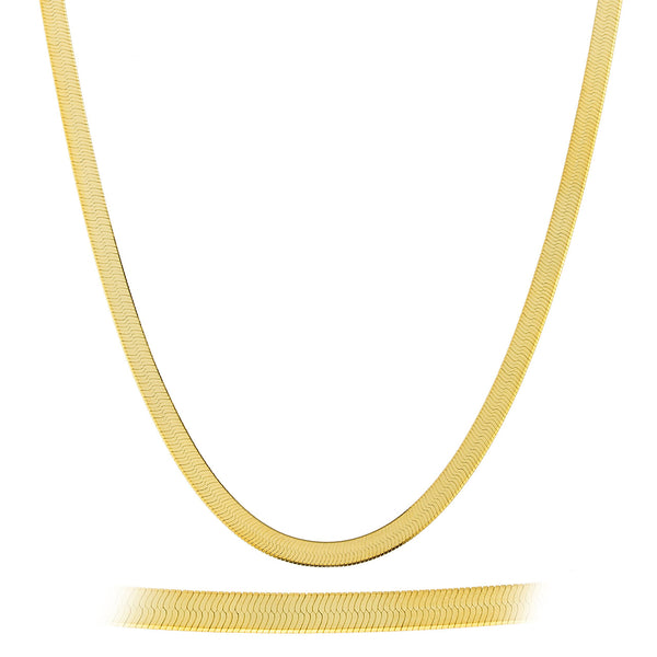 2 Pieces Of Goldtone 6mm 30 Inch Herringbone Chain Necklace