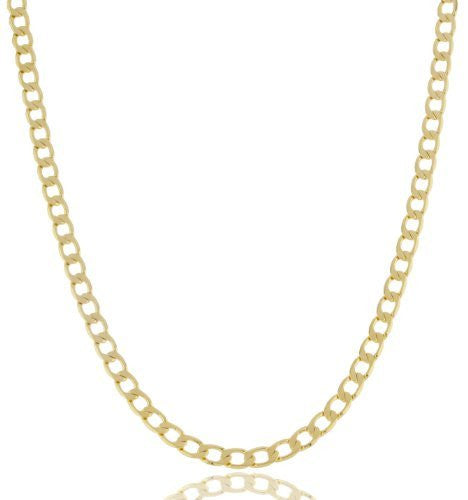 2 Pieces Of Goldtone Plated 4mm Cuban Chain (20 Inches)
