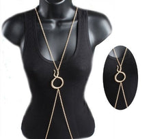 2 Pieces Of Goldtone Snake Charmed Body Chain