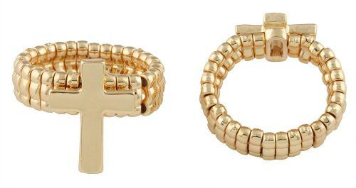 2 Pieces Of Goldtone Traditional Cross...