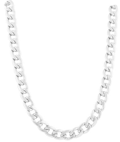 2 Pieces Of Silvertone 20 Inch Cuban Chain 6mm Necklace With Adjustable Toggle
