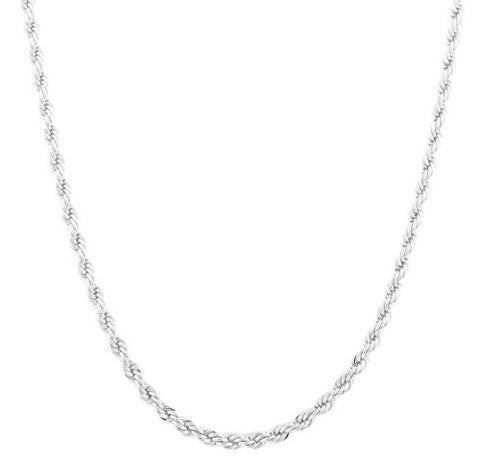 2 Pieces Of Silvertone 5mm 20 Inch Rope Chain Necklace