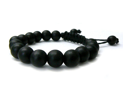 3 Pieces Of Black 12mm Plain Shamballa Beaded Bracelet