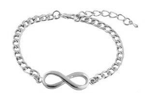 3 Pieces Of Silvertone Infinity Symbol...