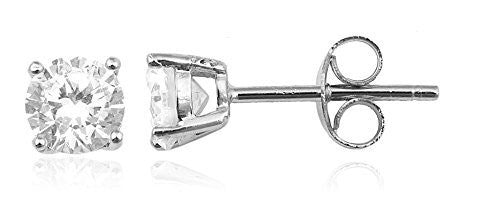 925 Sterling Silver Clear Cz Stone...