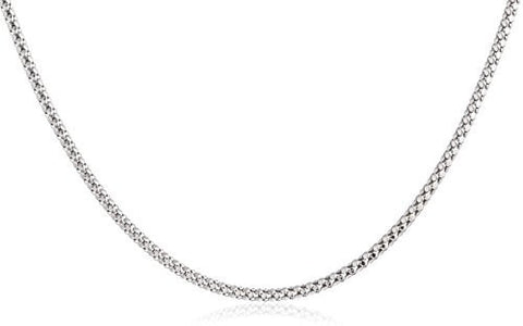 14k White Gold 1.6mm Hollow Box Chain 16-30inch