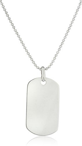 925 Sterling Silver Medium Dog Tag...
