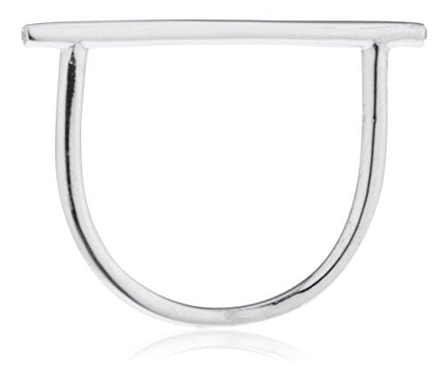925 Sterling Silver Basic Horizontal Bar...