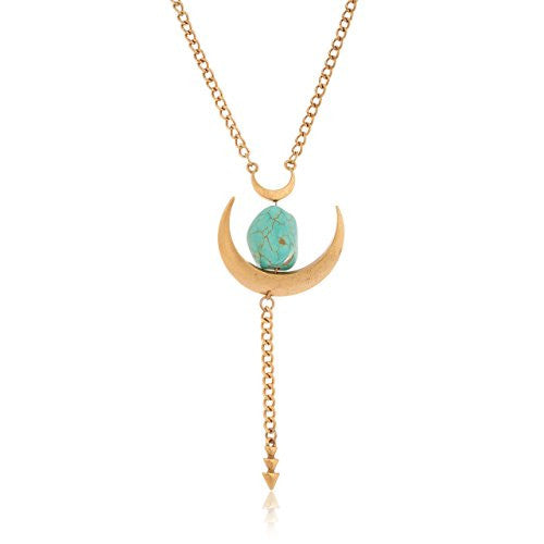 Brass with Turquoise Crescent Antique Design...