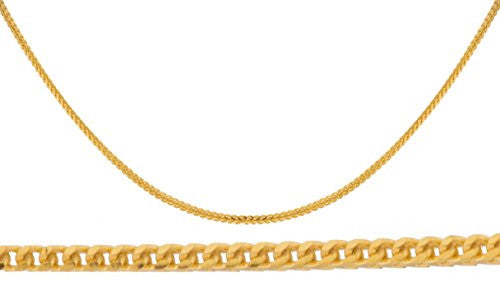 14k Yellow Gold 1.2mm Franco Chain...