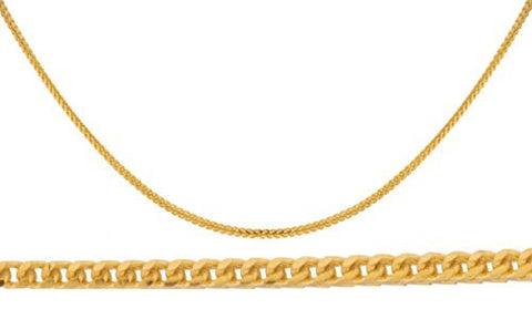 14k Yellow Gold 1.2mm Franco Chain Necklace 16-24inch