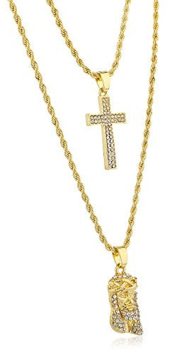 small blingblowout necklace chain jesus gold pendants piece pendant grande collections products