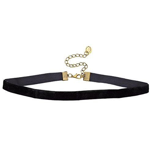 Classic Black Velvet 10mm 15 Inch Choker Necklace