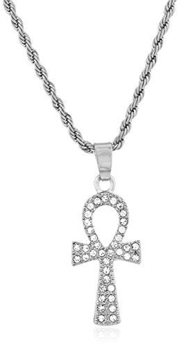 Ankh Cross Micro Pendant Necklace with...