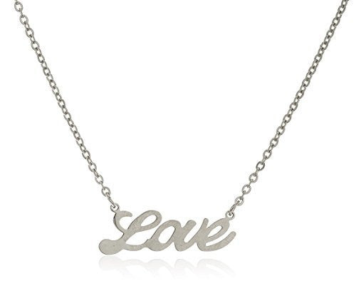 Stainless Steel Love 18 Inch Cable...