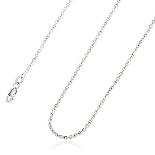 14K White Gold 1mm Solid Cable...