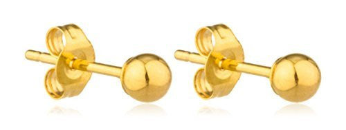 14K Yellow Gold Classic Ball Earring...