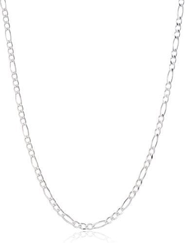 925 Sterling Silver 3mm Figaro Chain...