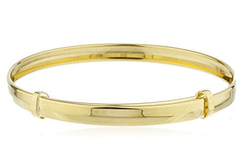 10k Yellow Gold 5 Inch Adjustable Baby Bangle