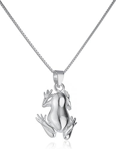 925 Sterling Silver Frog Pendant with...