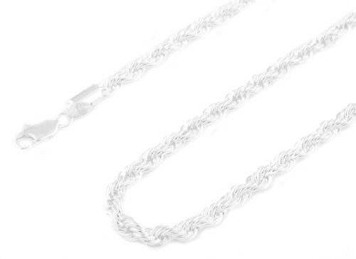 Silvertone 5mm 36 Inch Rope Chain...
