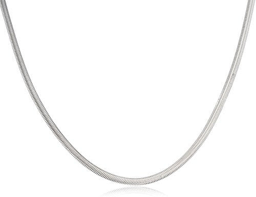Stainless Steel Oval Snake Chain (3mm...