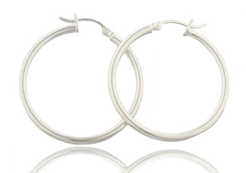 Sterling Silver Hoop Earrings 1.5 Inch...