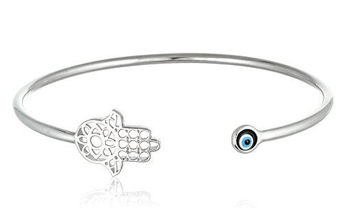 Hamsa with Mini Eye Cuff Bracelet...