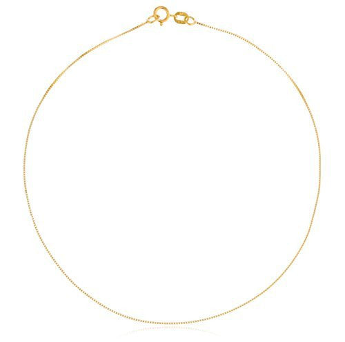 14k Yellow Gold .55mm Box Chain 10-30inch