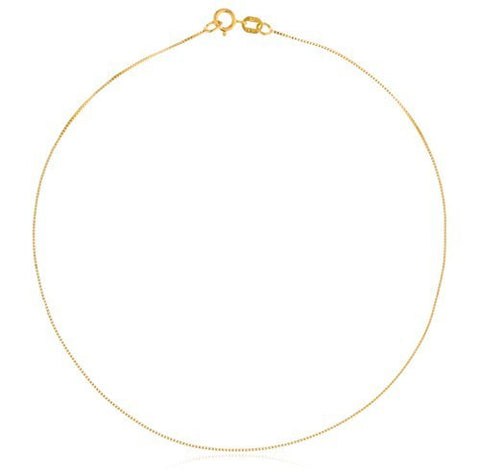 "14k Yellow Gold .55mm Box Chain - 10"" - 30"" Available"