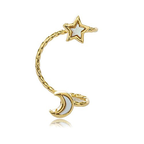 Goldtone Celestial Ear Cuff Earring