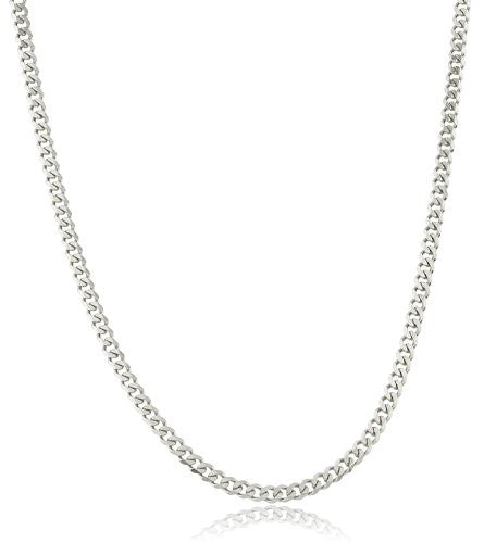 Sterling Silver 5mm Cuban Link Chain...