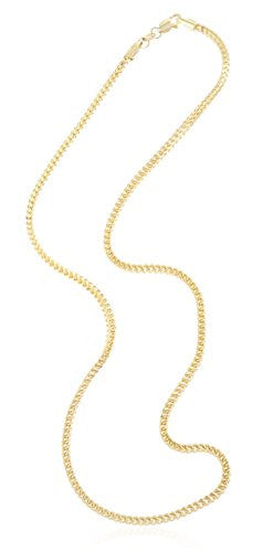 14K Yellow Gold 2.2mm Franco Chain...