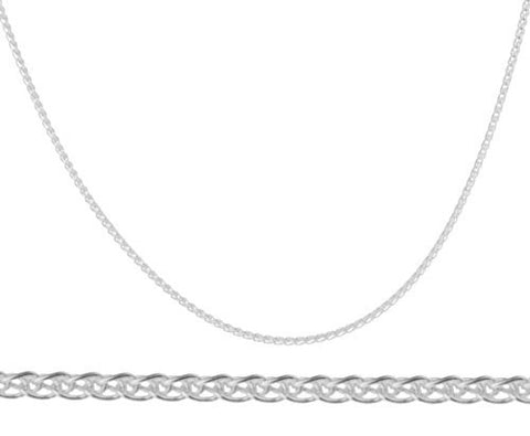 "925 Sterling Silver 1.3mm Spiga Wheat Chain - 20"" 22"" 24"" 30"" Available"