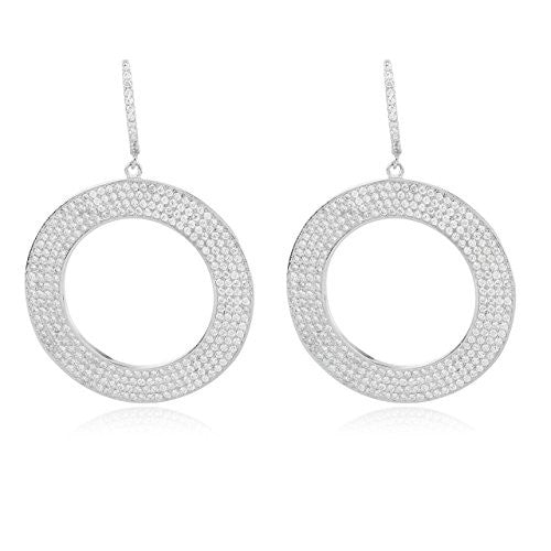 925 Sterling Silver Fancy Circle Cubic...