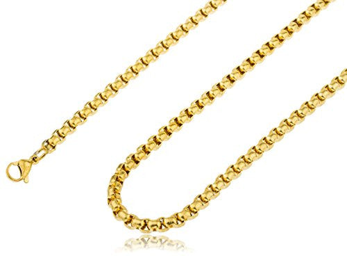Stainless Steel Goldtone Plated 5mm 24...