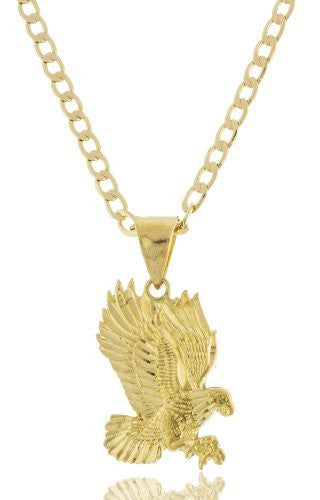 Goldtone Brass Eagle Pendant with a...