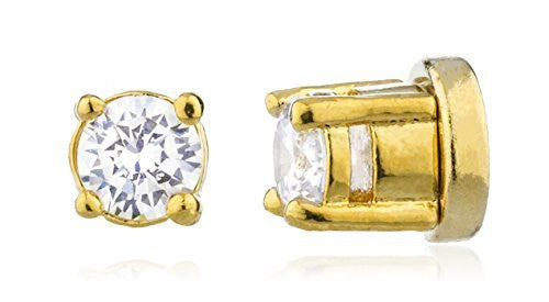 Goldtone with Clear Cz Round Magnetic...
