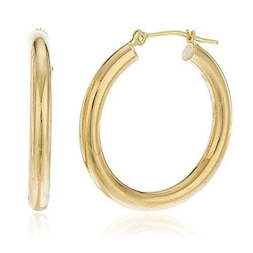 14K Gold Hoop Earrings 3mm Basic...