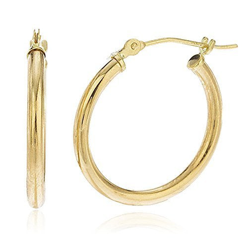 14k Yellow Gold 2mm Basic Hoop...