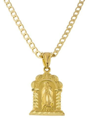 Gold Our Lady of Guadalupe Pendant...