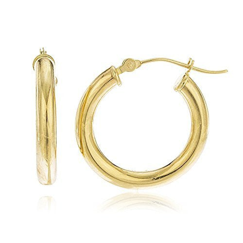 14K Gold Hoop Earrings 3mm .75...