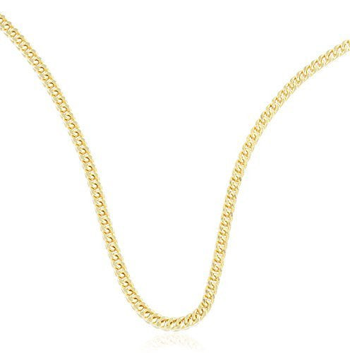 14k Yellow Gold Franco Chain Necklace 1.2mm - 2.2mm